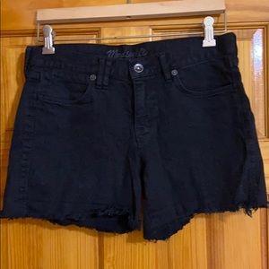 MADEWELL black jean shorts